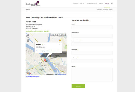 website - Rendement door Talent